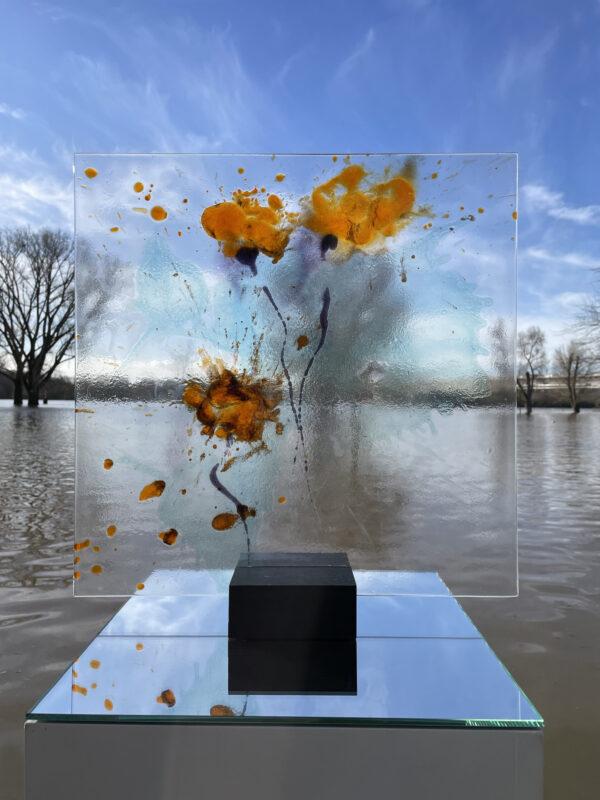 Gelber Mohn Glasmalerei Nabo Gaß