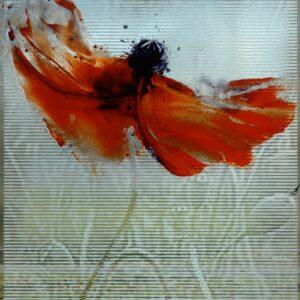 Rotes Kleis Glasmalerei Nabo Gaß